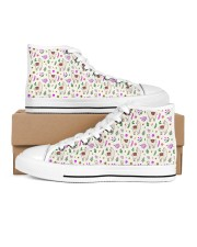 alpaca Garden Women's High Top White Shoes outside-right-inside-right