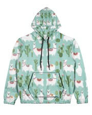 lLAMA Forest Women's All Over Print Hoodie tile