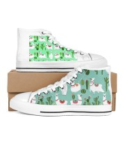 lLAMA Forest Women's High Top White Shoes tile