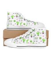 nature and alpaca Women's High Top White Shoes inside-left-outside-left