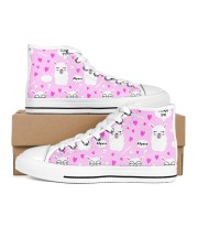 love alpaca Women's High Top White Shoes outside-right-inside-right