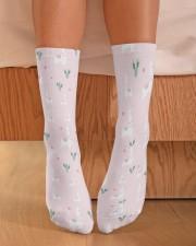 PINK alpaca Crew Length Socks aos-accessory-crew-length-socks-lifestyle-front-02