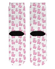 PINK alpaca Crew Length Socks back