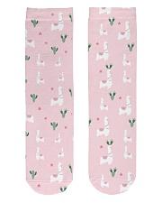 PINK alpaca Crew Length Socks front