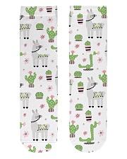 nature alpaca Crew Length Socks front