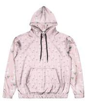 pink Alpaca Hoodie Men's All Over Print Hoodie front