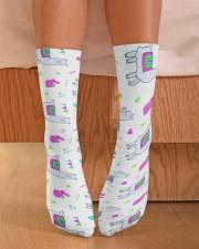 alpaca worm socks Crew Length Socks aos-accessory-crew-length-socks-lifestyle-front-02