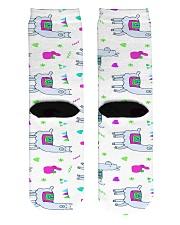 alpaca worm socks Crew Length Socks back