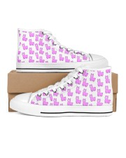 cute alpaca Women's High Top White Shoes outside-right-inside-right