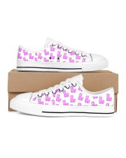 cute alpaca Women's Low Top White Shoes thumbnail