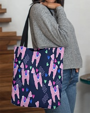 Alpaca  dreams All-over Tote aos-all-over-tote-lifestyle-front-09