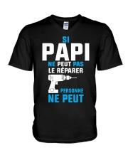 Papi peut le reparer V-Neck T-Shirt thumbnail