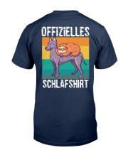 Schlafshirt Pyjama Schlafanzug Nachthemd Faultier  Classic T-Shirt back