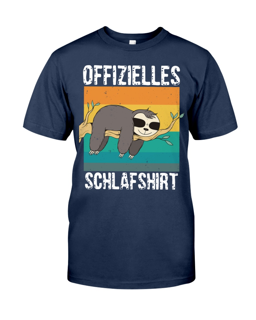 Schlafshirt Pyjama Schlafanzug Nachthemd Faultier  Classic T-Shirt