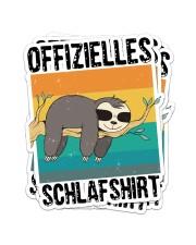Schlafshirt Pyjama Schlafanzug Nachthemd Faultier  Sticker - 4 pack (Vertical) thumbnail