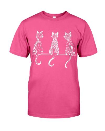 Three Cat T-shirt