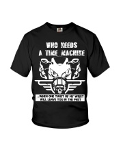 Who needs a time machine Youth T-Shirt tile