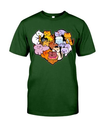 Color Heart Cat