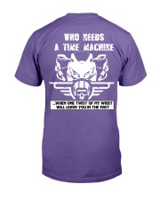 Who needs a time machine Premium Fit Mens Tee back
