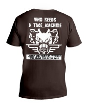 Who needs a time machine V-Neck T-Shirt thumbnail