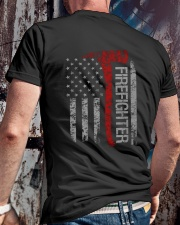 FireFighters Pride Tshirt Classic T-Shirt lifestyle-mens-crewneck-back-2