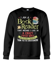 Book reader funny Crewneck Sweatshirt thumbnail