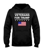 veterans for trump Hooded Sweatshirt front