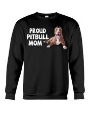 proud pitbull mom Crewneck Sweatshirt thumbnail