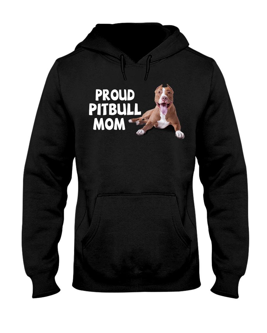 proud pitbull mom Hooded Sweatshirt