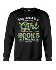 There Was A Girl Who Loved Books Shirt Book Lover Crewneck Sweatshirt thumbnail