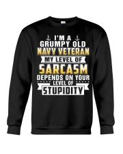 grumpy old navy veteran Crewneck Sweatshirt thumbnail
