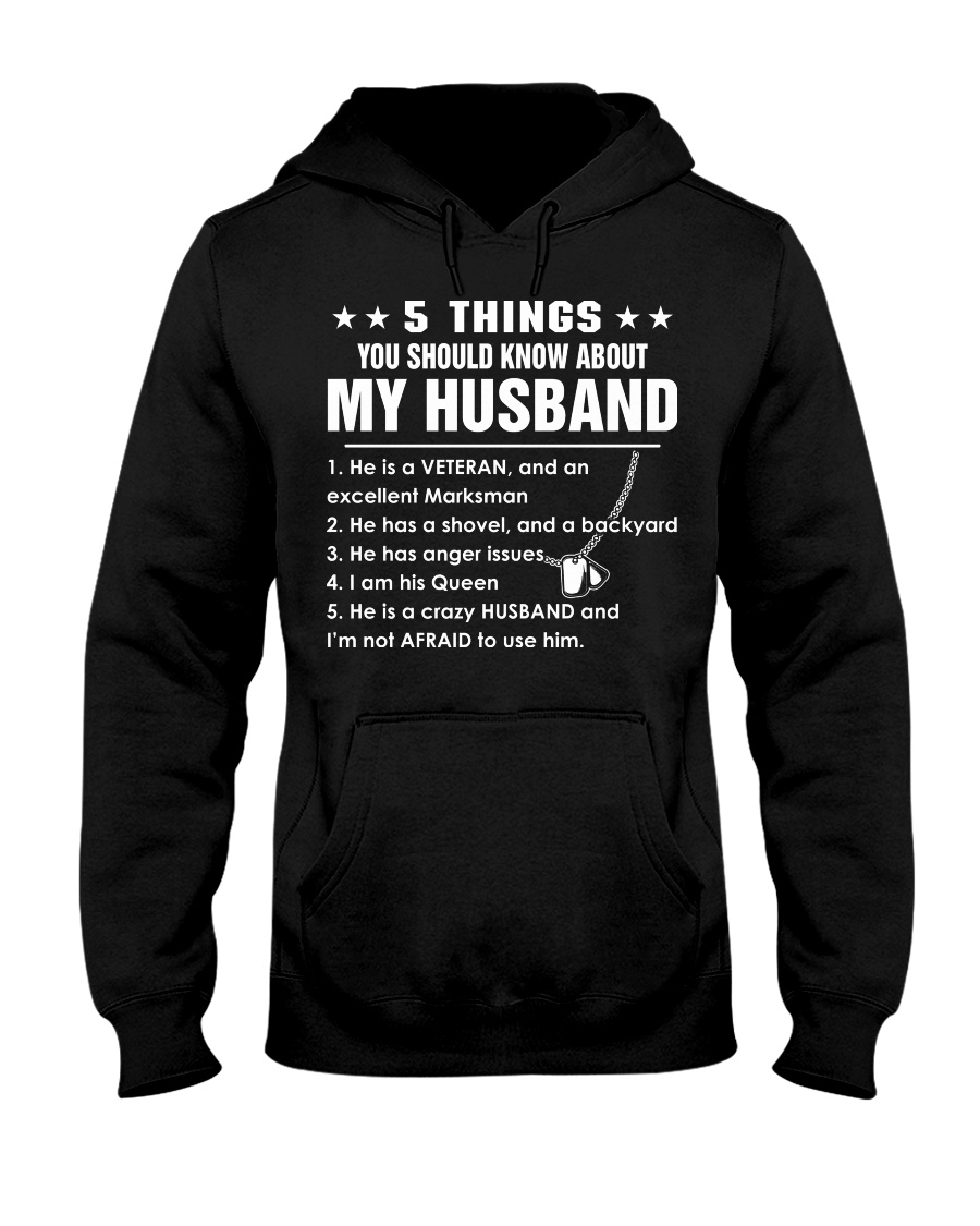 5 things you should know about my husband Hooded Sweatshirt