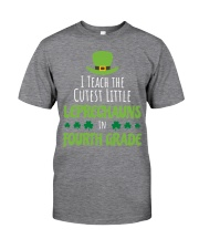 4th Fourth Grade Paddys St Patricks Day Teacher Classic T-Shirt front