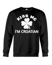 Kiss Me I'm CROATIAN St Patrick's Day Party Crewneck Sweatshirt thumbnail