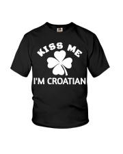 Kiss Me I'm CROATIAN St Patrick's Day Party Youth T-Shirt thumbnail