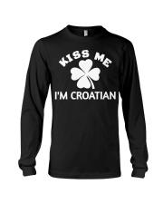 Kiss Me I'm CROATIAN St Patrick's Day Party Long Sleeve Tee thumbnail