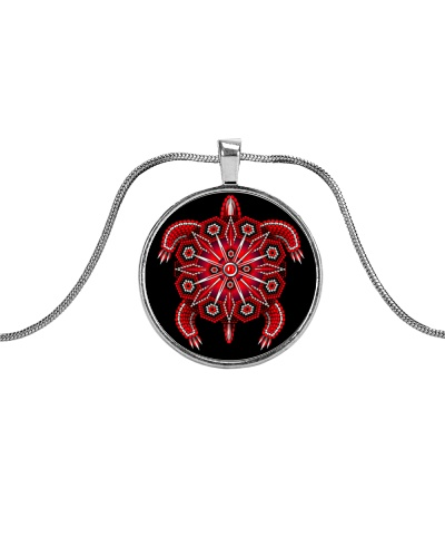 Red Native American Style Turtle copy