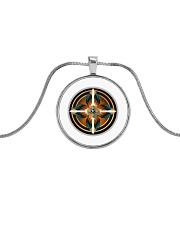 Southwest Native American Medicine Wheel Mandala  Metallic Circle Necklace front