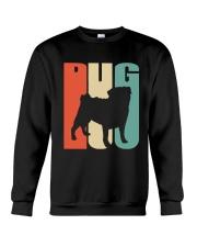 Vintage style pug silhouette Crewneck Sweatshirt thumbnail
