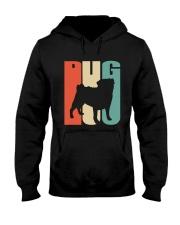 Vintage style pug silhouette Hooded Sweatshirt thumbnail