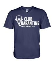 club quarantine home school 2020 V-Neck T-Shirt thumbnail