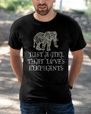 Just A Girl That Loves Elephants - Elephant Shirt  Classic T-Shirt apparel-classic-tshirt-lifestyle-front-50