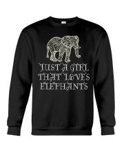 Just A Girl That Loves Elephants - Elephant Shirt  Crewneck Sweatshirt thumbnail