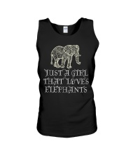 Just A Girl That Loves Elephants - Elephant Shirt  Unisex Tank thumbnail