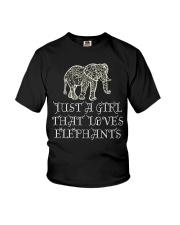 Just A Girl That Loves Elephants - Elephant Shirt  Youth T-Shirt thumbnail