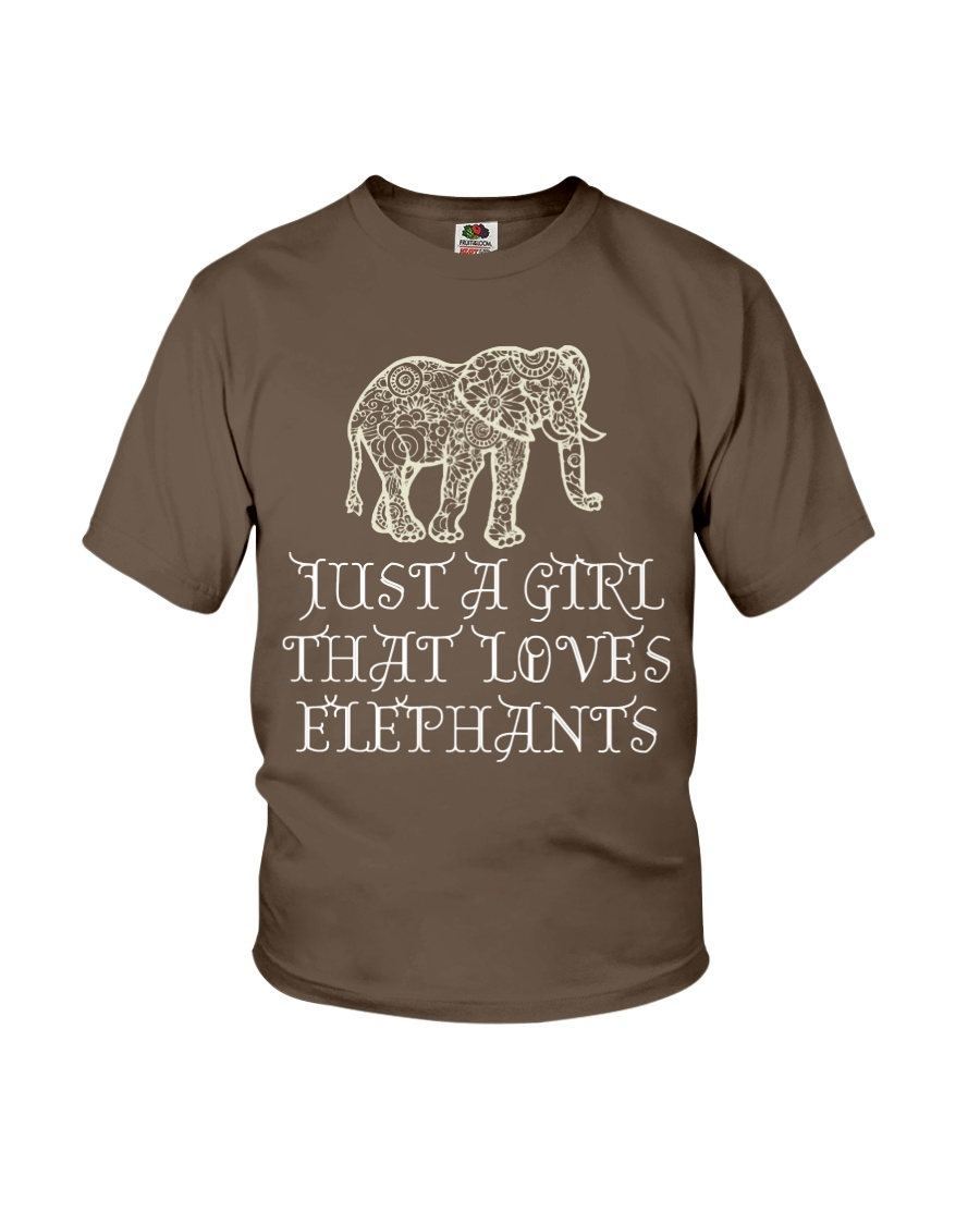 Just A Girl That Loves Elephants - Elephant Shirt  Youth T-Shirt