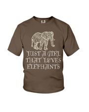Just A Girl That Loves Elephants - Elephant Shirt  Youth T-Shirt front