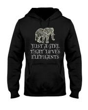 Just A Girl That Loves Elephants - Elephant Shirt  Hooded Sweatshirt thumbnail