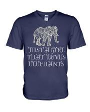 Just A Girl That Loves Elephants - Elephant Shirt  V-Neck T-Shirt thumbnail