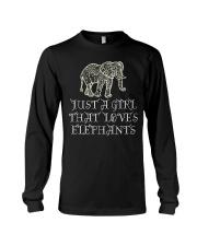 Just A Girl That Loves Elephants - Elephant Shirt  Long Sleeve Tee thumbnail